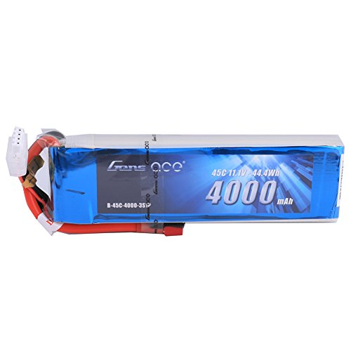 Review Gens ace 11.1V 4000mAh 3S 45C LiPo Battery Pack Deans Plug for Align Jet Esky Helicopter Walkera Airplane E-flite Huge Plane Draganflyer RC Helicopter Hobby Drone and FPV