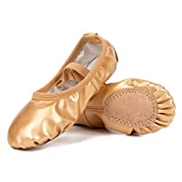Deals on Barerun Girls Leather Ballet Dance Shoes
