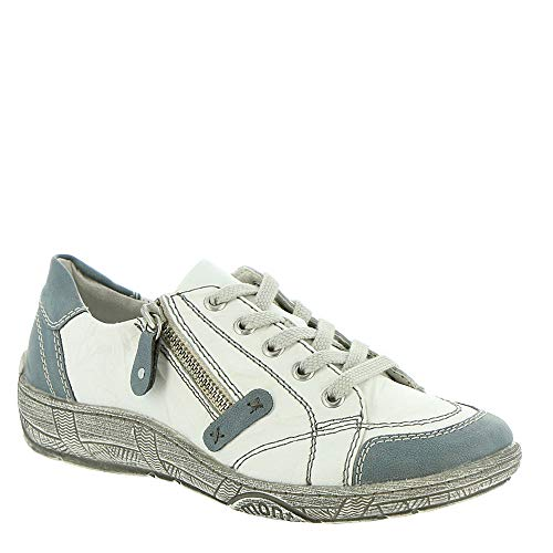 Remonte Women Lace-Up Shoes White, (Adria/Weiss/Weiss) D3808-81