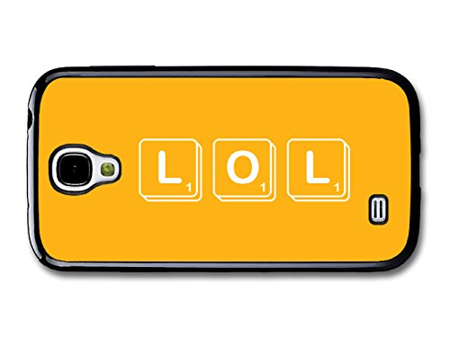 LOL Square Tiles Game Yellow Background Funny Illustration coque pour Samsung Galaxy S4