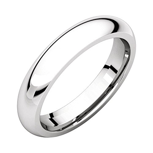 10kt 4mm Band - 10k White Gold 4mm Comfort Fit Band, 10kt White gold, Ring Size 9.5