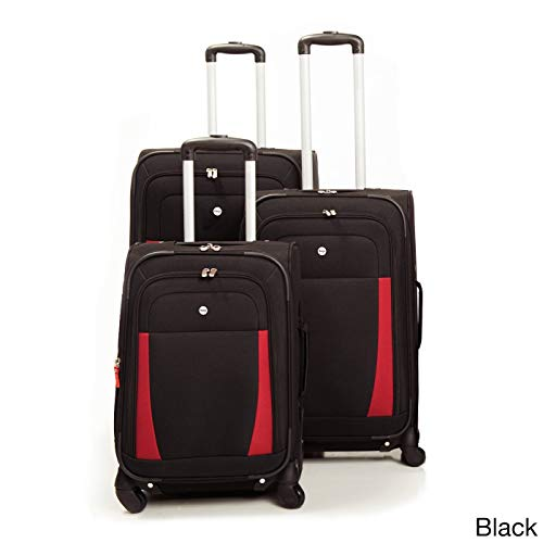 Voyager 3 Piece Luggage Set - West Lake 3 Piece Luggage Set Color: Black