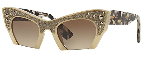 Miu Miu MU02QS TV01X1 Sunglasses Brown Cat-Eye - Miu Cat