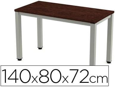 Mesa de oficina Rocada executive aluminio /wengue 140x80 cm ...