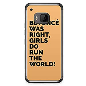 HTC One M9 Transparent Edge Phone Case Beyonce Phone Case Girl Power Phone Case Run The World M9 Cover with Transparent Frame