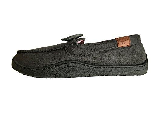 gamuza Gris Mulas cómodas New de Zapatillas Unido cosidas imitación Reino Tamaño cálidas en 12 Mens Mocasines 7 Suaves Joe caja Jo X7qx5zwCRc