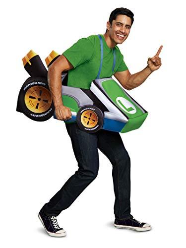 Disguise Luigi Kart Super Mario Bros Costume