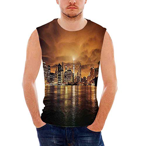 cle T- Shirts Cityscape,Manhattan at Sunset New York from B ()