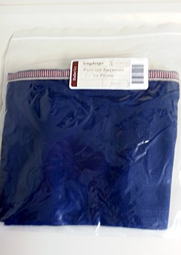 Longaberger Cake / Small Picnic Basket Liner Indigo Fabric Drop In Style Proudly American