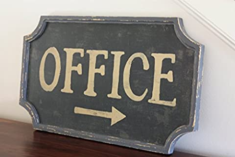 Vintage Style Office Sign - Hill Home Office Collection