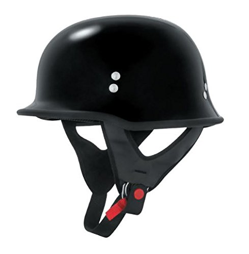 Skid Lid Traditional Half Helmet - Skid Lid Helmets KS750 Solid Helmet, Distinct Name: Gloss Black, Gender: Mens/Unisex, Helmet Category: Street, Helmet Type: Half Helmets, Primary Color: Black, Size: Sm, 640301