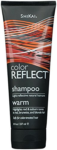Shikai - Color Reflect Warm Shampoo, Reflects Red & Copper Tones and Intensifies Red Hair, Adds Weightless Body & Shine, Helps Protect & Extend Color Treated Hair (Unscented, 8 - Warm Colors Tone Skin