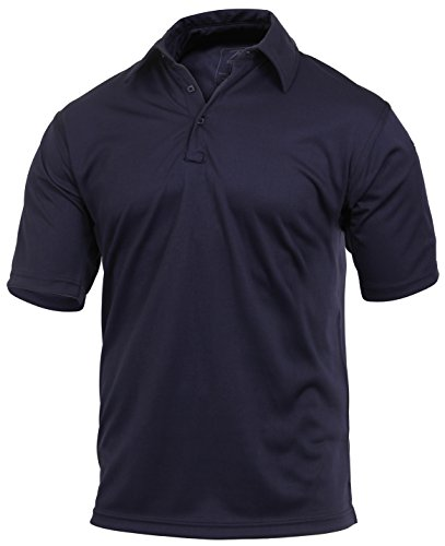 Rothco Tactical Performance Polo Shirt, Midnight Navy Blue, ()