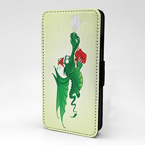 Weihnachtskunst Drachen Druck Design Muster bedruckt Telefon Flip Case Hülle für Apple iPhone 6 - 6S - P238