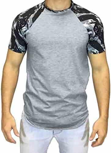 b49d0904e3f Pandaie Mens Blouse Shirts Men Casual Summer Camouflage Print Short Sleeve  O-Neck Tops Blouse