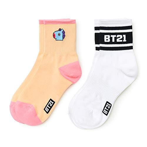 BT21 Official Merchandise by Line Friends - Character Cute Cotton Socks for  Women 406e28f48577