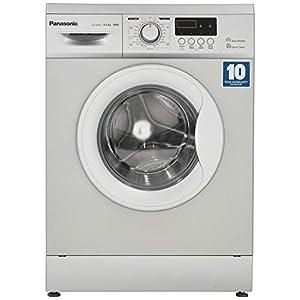 Panasonic 6 kg Fully-Automatic Front Loading Washing Machine (NA-106MC2L01, Silver, Inbuilt Heater)