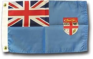 "Fiji–12""X 18"" bandera de Nylon"