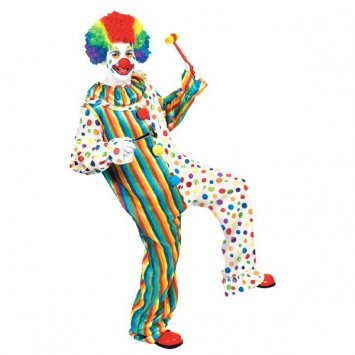 Buttons The Clown Costumes (Clown Jumpsuit Costume - Standard - Chest Size 42)