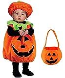Madrugada 【かぼちゃバッグ付き】 ハロウィン パンプキン キッズコスチューム 男女共用 S544 L(100cm-110cm)