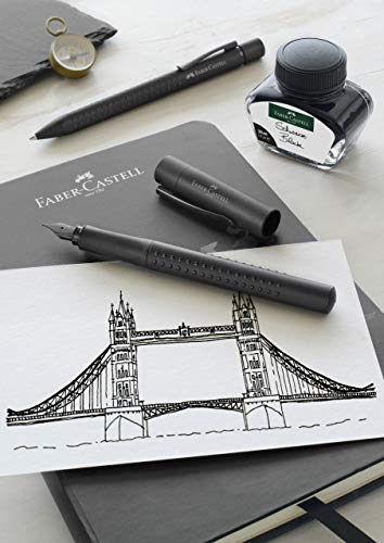 Faber-Castell Grip Edition Fountain Pen and Ballpoint Pen Set - All Black