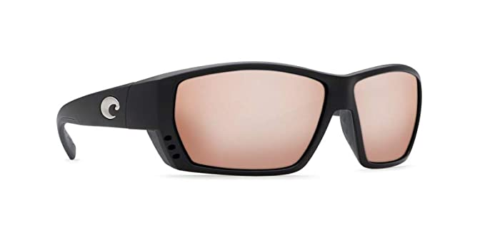 cee4a8869a Image Unavailable. Image not available for. Color  Costa Del Mar Tuna Alley Sunglasses  Matte Black Copper ...