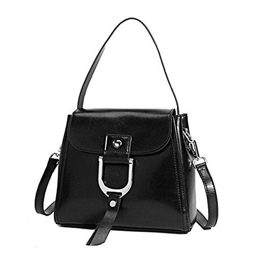 Travel Shoulder Green Women Bag Handbag Street Black And American Style Bag Leno color European Leather Work Leather Bicolor q6R40S0