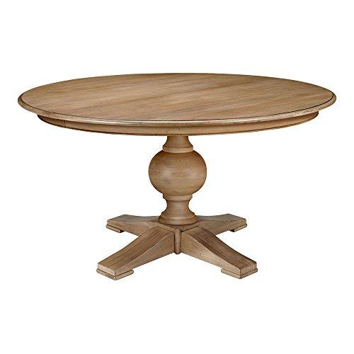 """Ethan Allen Cooper Round Pedestal Dining Table, 60"""" Diameter, Rye"""