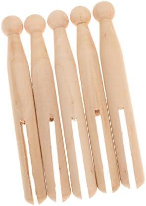 dailymall 20ピース/個木製ドリーペグ、伝統的な4.13インチ木製ドリー衣服衣服ピンペグ洗濯ライン工芸品