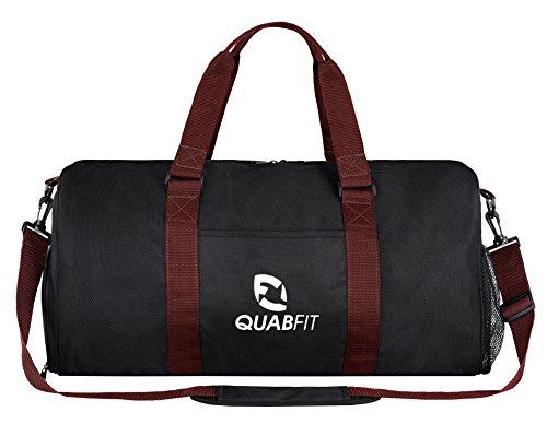 QuabFit Damen Herren Sporttasche Gym Fitness Fitnessstudio Schuhfach Nassfach Schwarz 40L