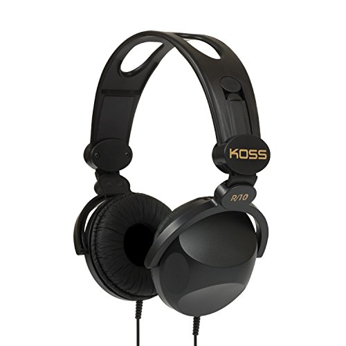 Koss R-10 On-Ear Headphones | Black | 8-foot cord | Lightweight