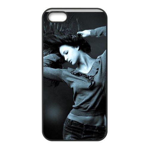 Dance Energy Girl coque iPhone 5 5S cellulaire cas coque de téléphone cas téléphone cellulaire noir couvercle EOKXLLNCD23027