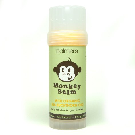 Balmers Monkey Balm, Organic Sea Buckthorn Eczema Remedy Balm, 2-ounce