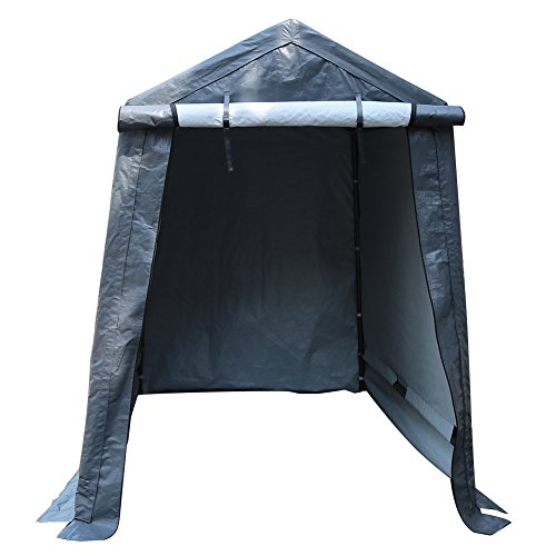 Abba Patio Storage Shelter 6 x 8- Feet Outdoor Shed Heavy Duty Canopy, Grey by Abba Patio