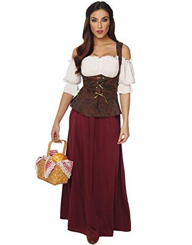 [Franco Peasant Lady Womens Medieval Halloween Costume Small] (Peasant Halloween Costumes)