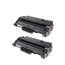 2 Pack SaveOnMany ® Samsung MLT-D105L MLT-D105S (2.5K Pages High Yield) MLTD105L MLTD105S Black BK New Compatible Samsung105 105 MLT-D105 MLTD105 MLT105 MLTD105L MLT105L MLT D105L D105L MLTD105S MLT105S MLT D105S D105S Toner Cartridge for ML-1910 ML-1915 ML-2525 ML-2525W ML-2540R ML-2545 ML-2580n SCX-4600 SCX-4623F SCX-4623FN SCX-4623FW SF-650 SF-650P