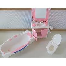 Barbie Size Dollhouse Furniture- Bathroom