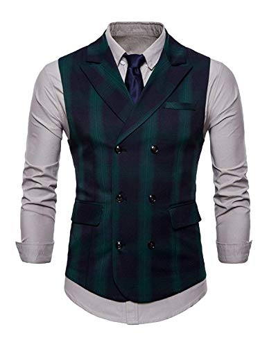 Grüne Men Suit Vest Gilets Huixin Business Cut Slim Bride Vintage zqgxEw