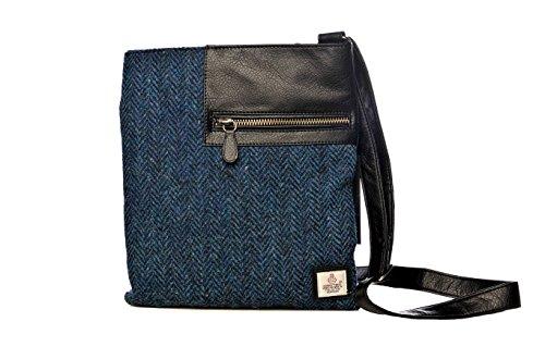 Cloudberry - Women Shoulder Bag Blue Herringbone