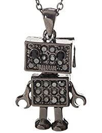 Heart Robot with Full Movement Pendant Necklace