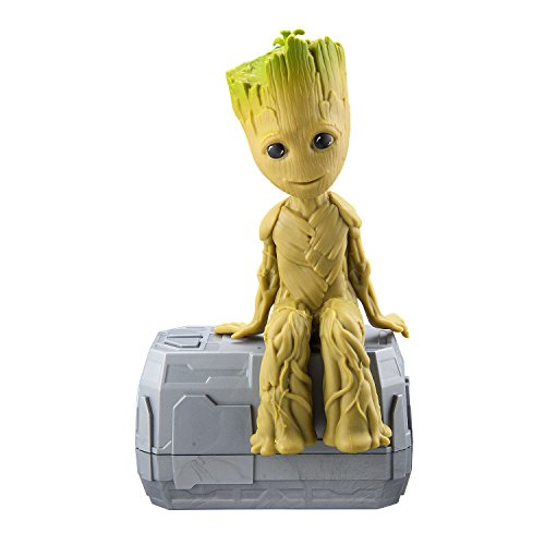 eKids Marvel Guardians of The Galaxy Dancing Groot – New Talking I Am Groot Featuring Little Groot! Voice & Sound Activated Dancing Mini Groot with in-Built Music