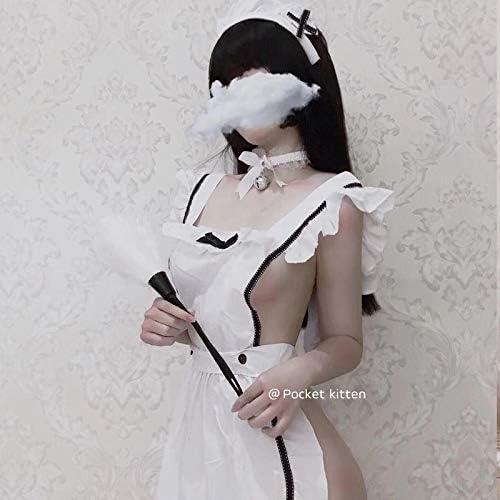 vestido de criada blanco