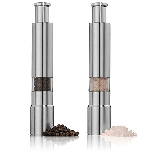 Original Pump & Grind Single Salt or Pepper Grinder, Use as Pepper Mill, Salt Grinder or Buy (2) to make a Salt and Pepper Grinder set. Stand Sold Separately. (Big Pepper Grinder)