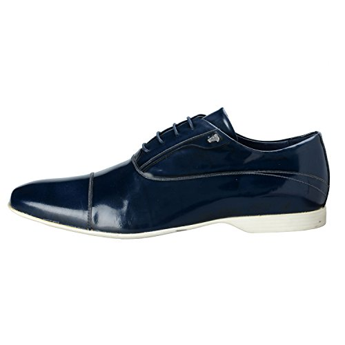 Versace-Collection-Mens-Blue-Polished-Leather-Oxfords-Shoes-US-11-IT-44