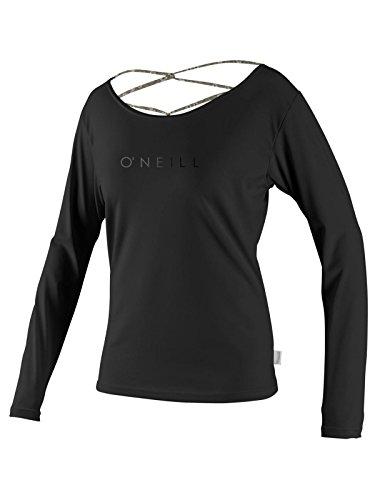 O'Neill Womens Strap Back L/S Rashguard, Black/Floral Black, Small
