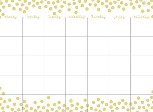 WallPops WPE2962 Confetti Dots Monthly Calendar Wall Decal Metallic ()