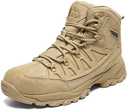 NORTIV 8 Men s Waterproof Hiking Boots Outdoor Mountaineering Trekking Mid Backpacking Shoes Beige Size 10 M US JS19002M
