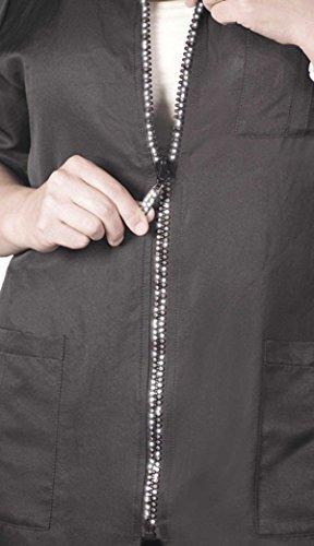 ladybird line rhinestone zipper pet grooming jacket water repellent ideal for pet    dog groomer