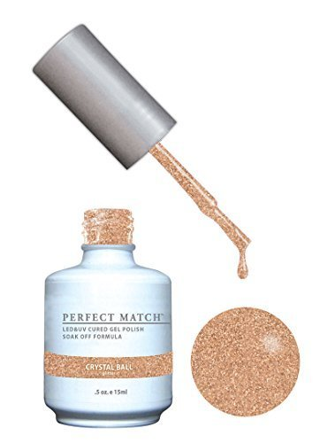 LECHAT Perfect Match Gel Polish + Matching Nail Lacquer, Crystal Ball, 0.500 Ounce by Perfect Match