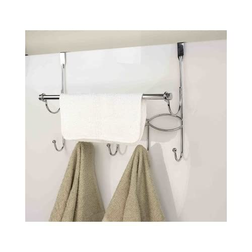 Home Basic DH41137 OTD Hook W/Towel bar Chrome chic